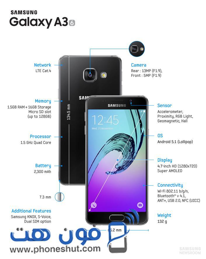 Samsung Galaxy A3 phoneshut