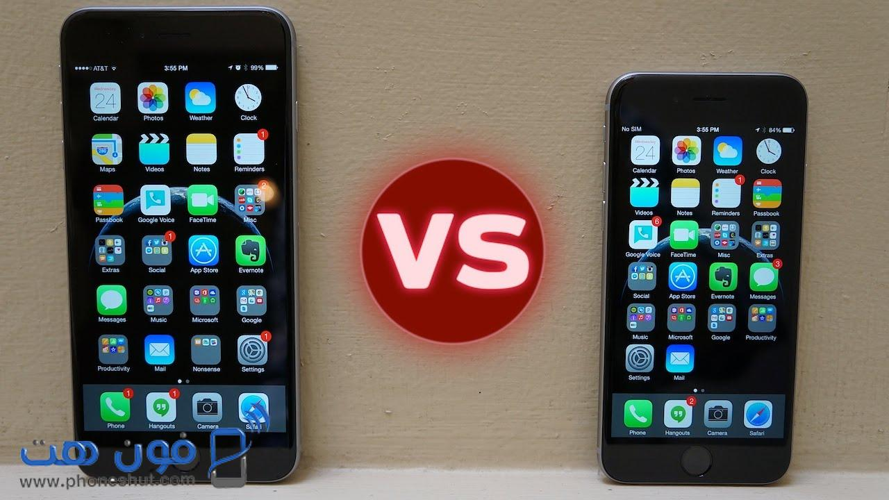 IPhone 6 vs IPhone 6 Plus phoneshut com