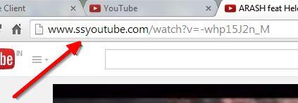 موقع Savefrom / استخدام الحرفين SS/التحميل من اليوتيوب