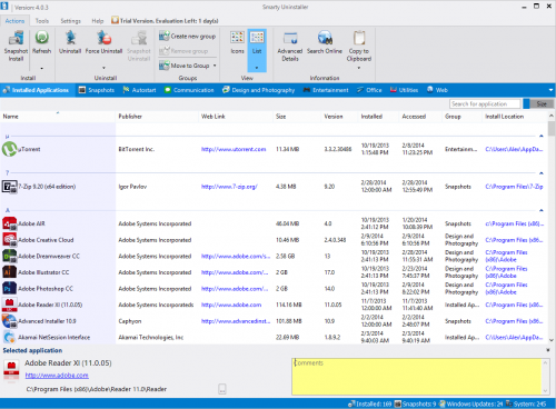 برنامج حذف البرامج من جذورها Smarty Uninstaller