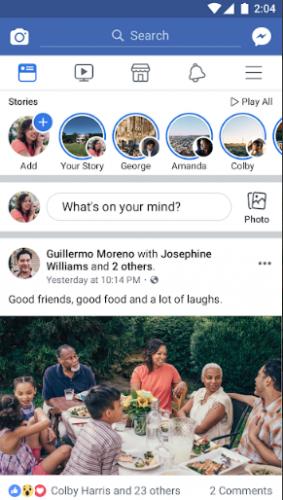 تحميل تطبيق التواصل الاجتماعي Facebook الغني عن التعريف