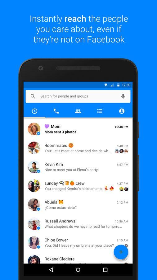 تطبيق Messenger لإرسال الرسائل النصية ومقاطع الفيديو والمزيد