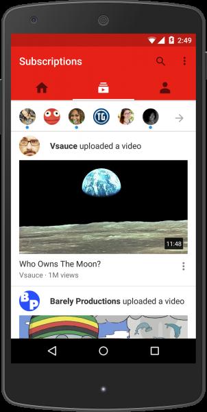 شاهد واستمتع بملايين الفيديوهات عبر تطبيق YouTube