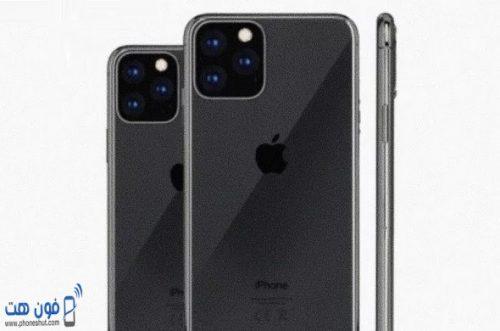 صورة تخيلية لهاتف ايفون 11 من شركة ابل من الخلف تظهر شكل الكاميرات