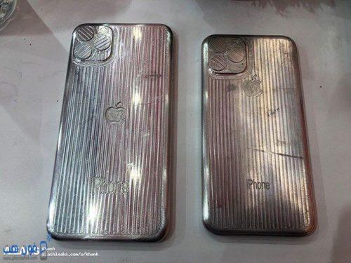 صورة خلفية توضح شكل الكاميرات لقالب هاتف ايفون 11 الجديد من ابل