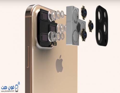 صورة توضح بنية كاميرات هاتف ايفون 11 الجديد