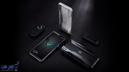 صورة توضح شكل هاتف شاومي بلاك شارك 2 برو من جميع الزوايا و الجهاز وشكل الجهاز من الخلف